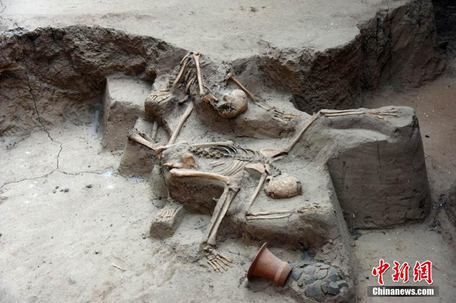 Shocking scenes in 4000-year-old quake relic- China org cn