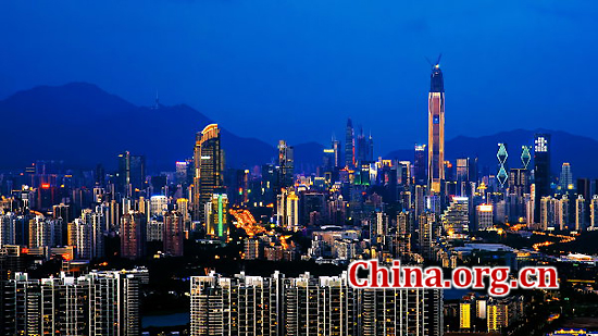 Shenzhen, Guangdong Province, one of the 'top 10 best-performing large cities in China' by China.org.cn.