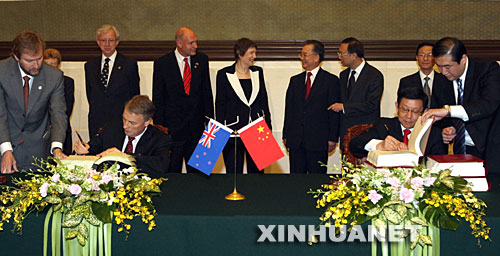 China New Zealand Free Trade Agreement China