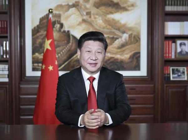 新年前夕,国家主席习近平通过中国国际广播电台、中央人民广播电台、中央电视台,发表了二〇一六年新年贺词。[新华社]