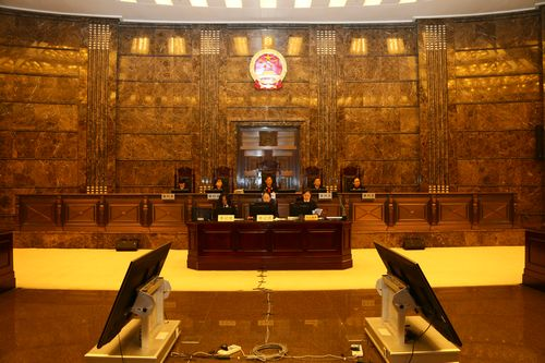 The Supreme People's Court holds a public hearing over the environmental public interest case on the afternoon of Jan 21, 2016. [Photo provided by the Supreme People's Court]