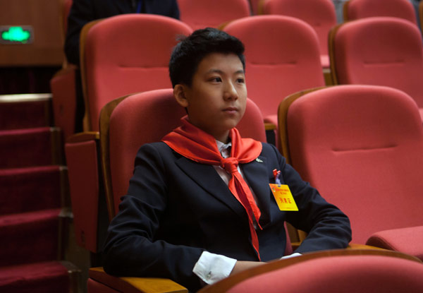 Liu Bo attends a session of the political advisory body in Shenzhen. [Photo/China Daily]