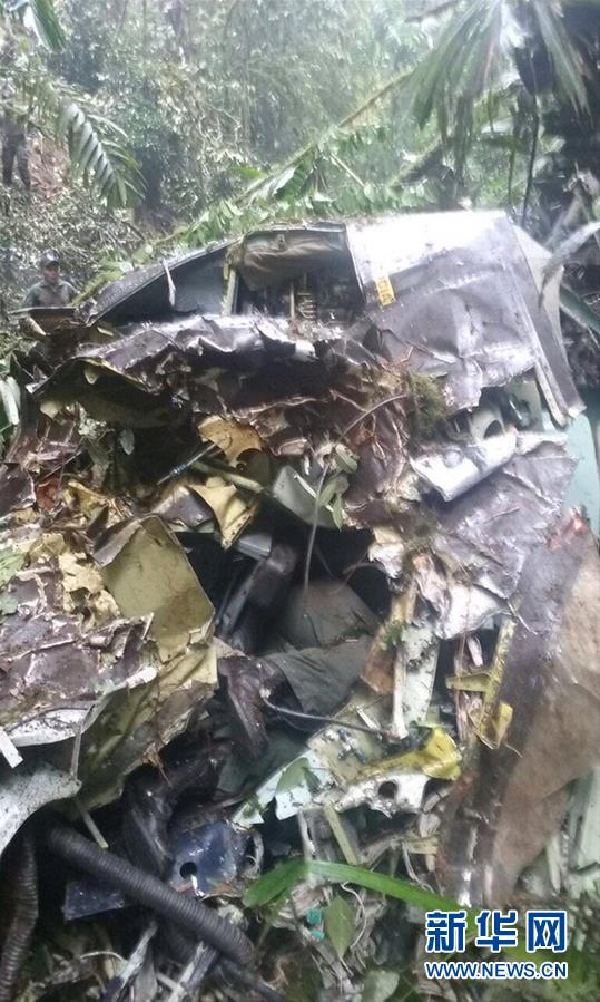 A military aircraft crashed in the Ecuadorian eastern province of Pastaza, killing all 22 people on board, military authorities said on Tuesday. [Photo/Xinhua]