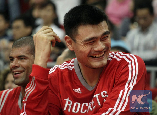 yao ming in basketball hall of fame china org cn