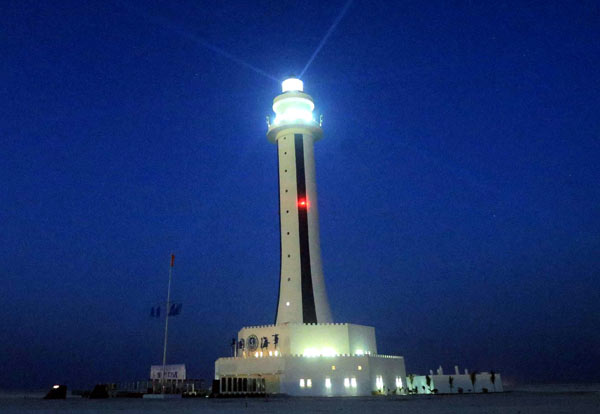 Zhubi Reef lighthouse comes to life in South China Sea