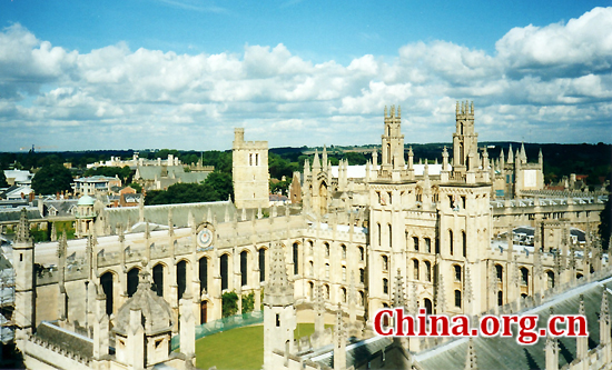 University of Oxford, one of the 'top 10 science institutions in the world' by China.org.cn.