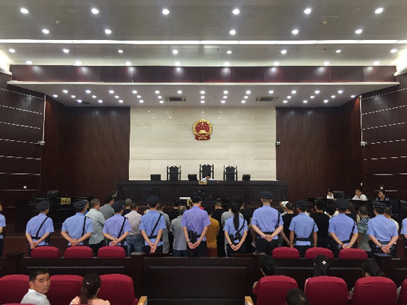 Thirty-two people in east China's Zhejiang Province have been sentenced to up to 13 years in prison for trafficking endangered animals, announced the Yongjia County People's Court on Tuesday.