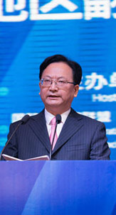 Jing Junhai delivers speech at 8th APTIF