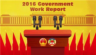 Gov't work report in 2016