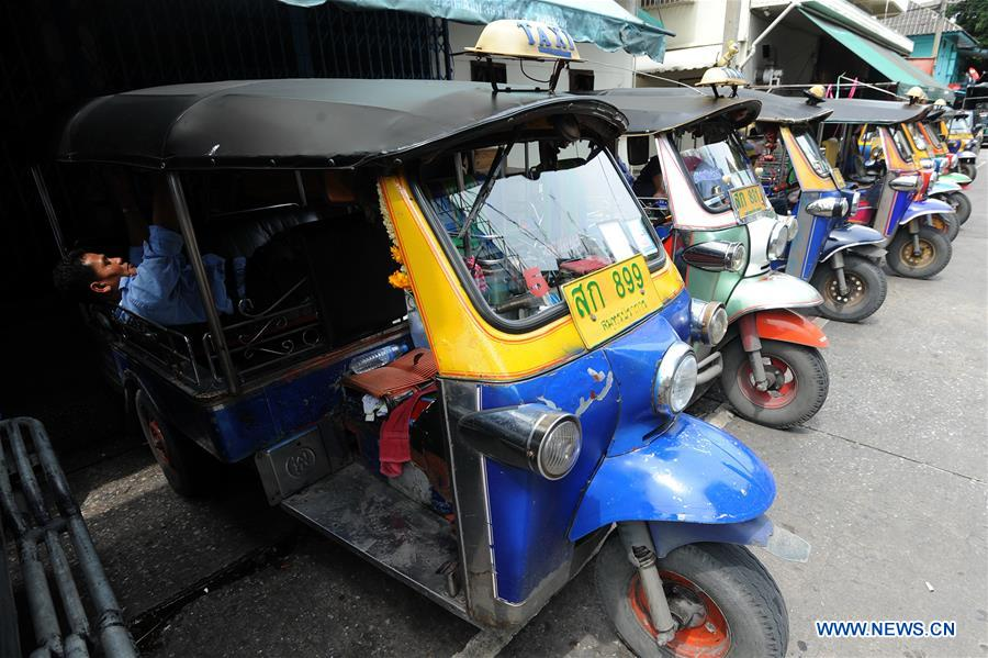 Motor Tricycle Used As Transportation Vehicle Popular Thailand