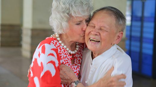 Woman reunited with Chinese rescuer 71 years on