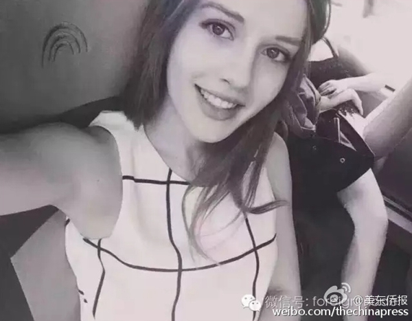 Twenty-one-year-old model named Daria has been missing in Shanghai for almost 10 days. [Photo/Weibo.com]