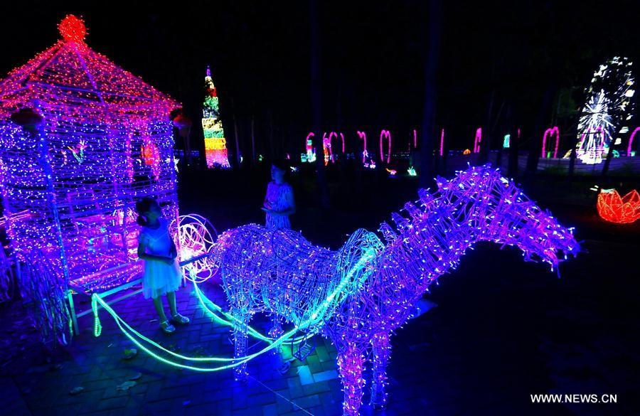 led light festival held in china 39 s shandong