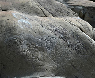 Prehistoric art washed away by flooding