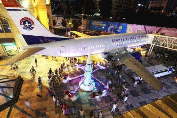 A retired Boeing 737 aircraft is transformed into a theme restaurant in Wuhan, Hubei Province.(File photo)