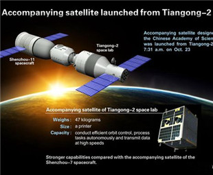 Space lab Tiangong 2 launches 'Selfie Stick'