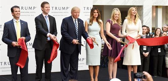 特朗普国际酒店举行开业仪式