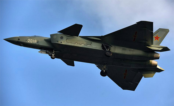 le photo of J-20 stealth fighter jet. [Photo from web]