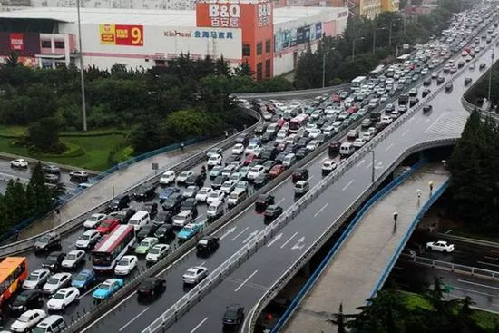 Qingdao, Shandong Province, one of the 'top 10 Chinese cities with the worst jam' by China.org.cn.