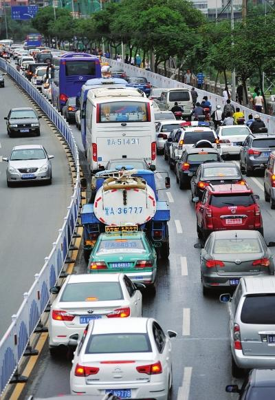 Lanzhou, Gansu Province, one of the 'top 10 Chinese cities with the worst jam' by China.org.cn.