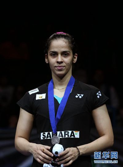 Saina Nehwal, one of the 'top 10 women's singles badminton players by China.org.cn.