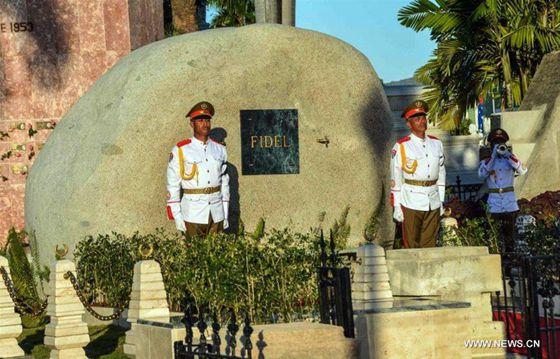 Remains of Fidel Castro Burried in Santa Ifigenia Cemetery