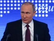 Putin speaks during annual news conference in Moscow