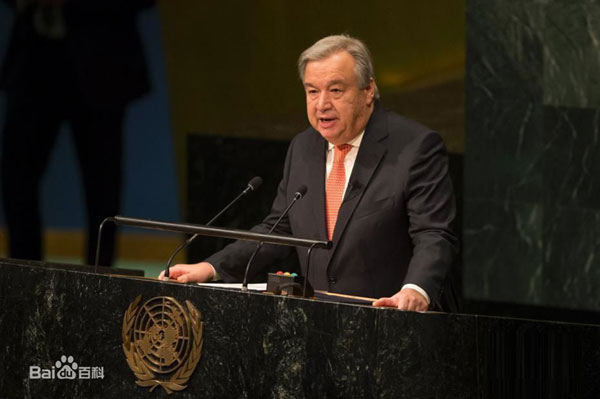 United Nations chief appeals for peace on New Year's Day