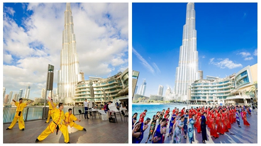 Flash mob of Chinese culture held in Dubai