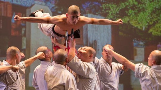 Shaolin monks perform Chinese martial arts in Israel