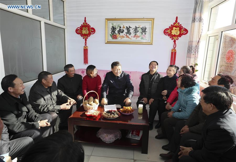 CHINA-HEBEI-XI JINPING-INSPECTION-POVERTY ALLEVIATION (CN)