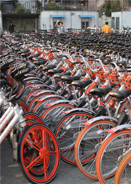 Illegally Parked Rental Bikes Seized China Org Cn