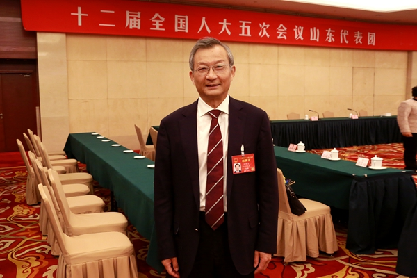 Sun Mingbo, chairman of Tsingtao Brewery and a deputy to the National People's Congress [Photo / China.org.cn]
