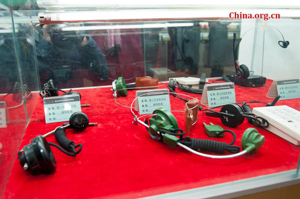 Obsolete communication devices on display [Photo by Chen Boyuan / China.org.cn]