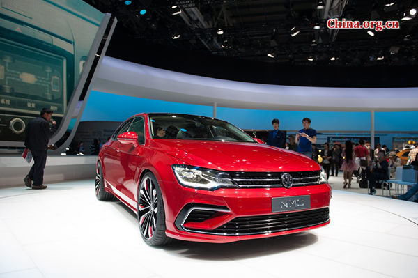 VW 'back on track' thanks to record deliveries in 2016 [File photo by Chen Boyuan / China.org.cn]