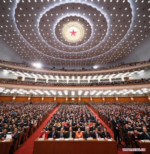 3月5日,第十二届全国人民代表大会第五次会议在北京人民大会堂开幕。 [新华社]