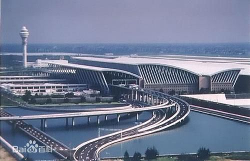 Shanghai Pudong International Airport, one of the 'top 10 world's busiest passenger airports' by China.org.cn.
