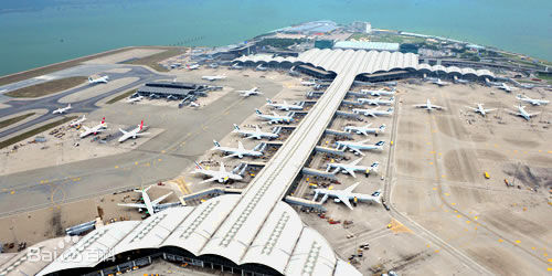 Hong Kong International Airport, one of the 'top 10 world's busiest passenger airports' by China.org.cn.