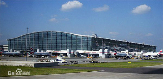 London Heathrow Airport, one of the 'top 10 world's busiest passenger airports' by China.org.cn.