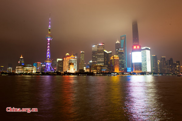 A night view of the Bund in Shanghai [File photo by Chen Boyuan / China.org.cn]