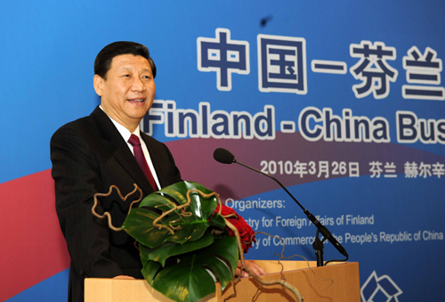 Chinese president promises pandas to Finland on state visit
