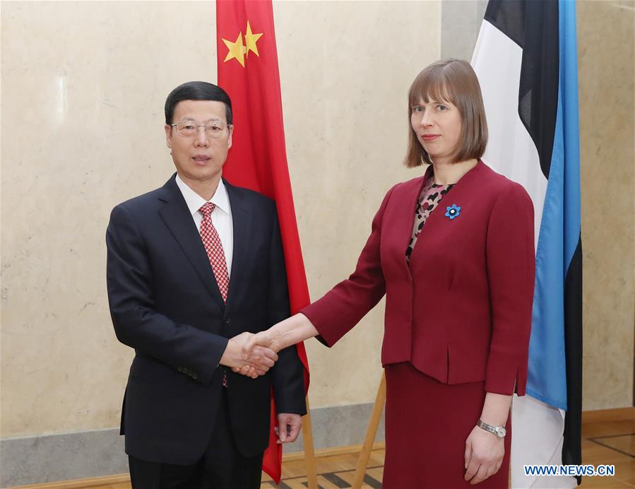 China appreciates Estonia's participation in Belt and Road initiative, pledging to enhance economic ties
