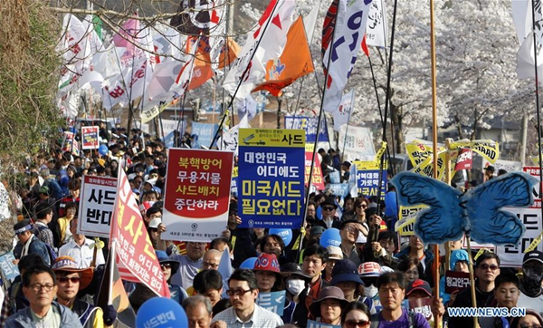S.Korea says US reaffirms it will pay THAAD costs; joint drills wrap up