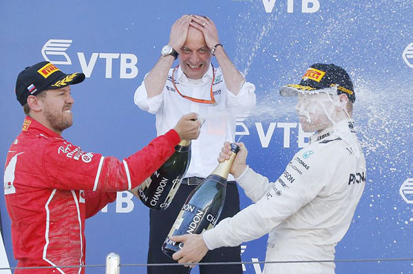 Valtteri Bottas gets that winning feeling at last