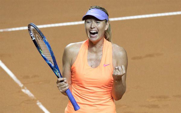 Maria Sharapova through face critic Eugenie Bouchard in Madrid
