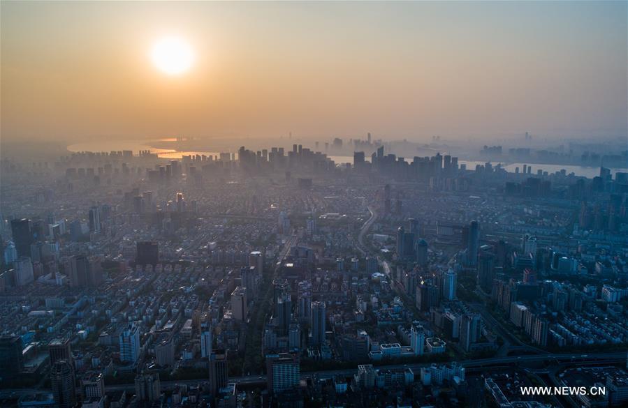 CHINA-HANGZHOU-AERIAL VIEWS-DAWN (CN)