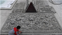 In pics: Linxia brick carving