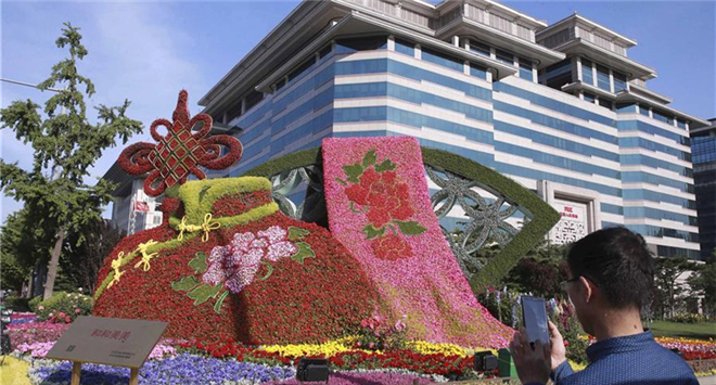 Decorations set to greet upcoming Belt and Road Forum in Beijing