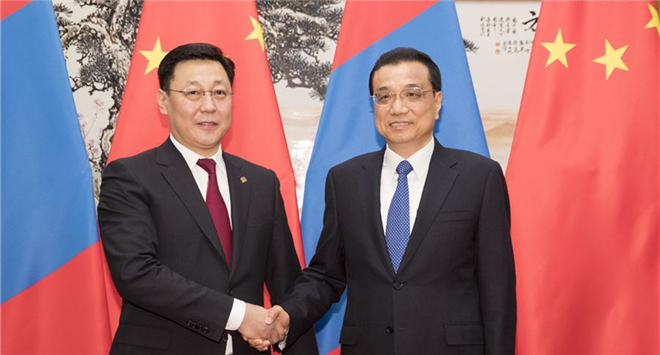 Premier Li meets with Mongolian PM in Beijing