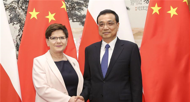 Chinese premier meets Polish PM in Beijing
